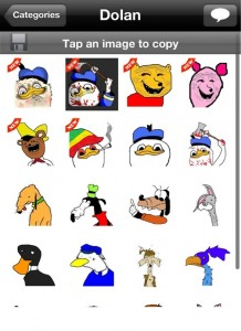 SMS Rage Faces: Faces Selection