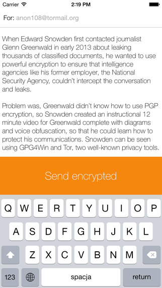 Privacy PGP Messenger Example